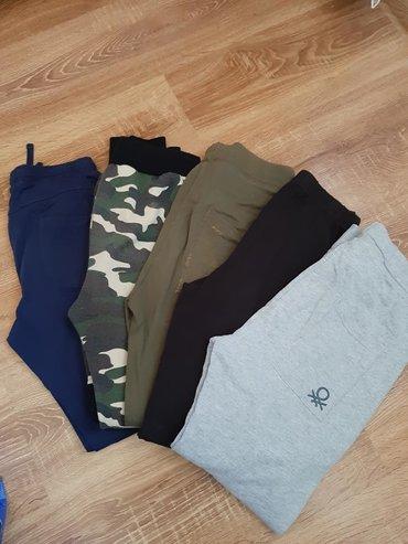 Dečija odeća i obuća - Barajevo: 7 pamucnih donjih delova trenerki. Velicina 10/12. Cena za paket od 7