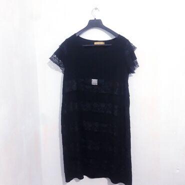 шикарное маленькое черное платье в Кыргызстан: Шикарная платье на вечер отличного качества с турции цена 1000 торга