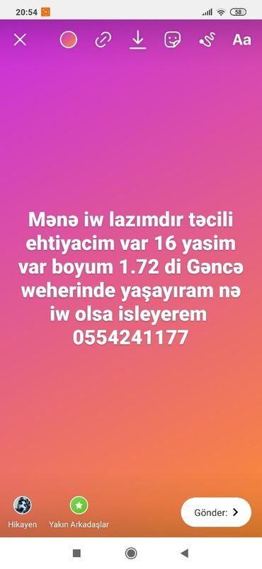 Xidmətlər - Gəncə: Varsa əlaqə saxlayin