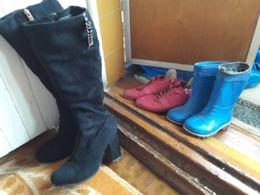 Сапоги замша 36, резиновые, 26, красовки 37-60 сом в Бишкек