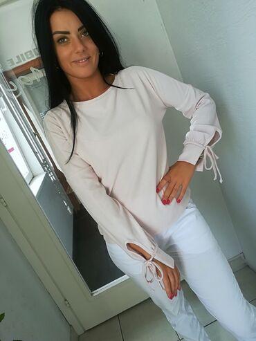 Ody bluza - Srbija: Divns nežno roze bluza vrhunska premekana Povoljno