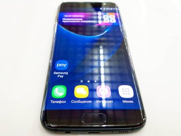 Samsung S7 edge Black edition limited 128gbДисплей 5.5 дюйма, QHD-ра в Бишкек