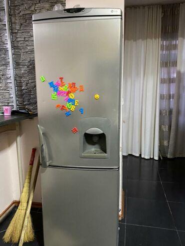 | Б/у Двухкамерный | Серый холодильник LG