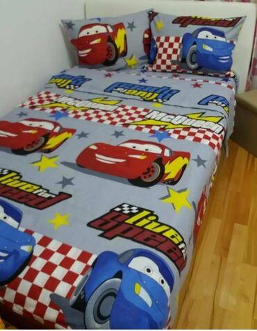 Decija posteljina cars pamucna komplet sadrzi 1 jastucnicu 50x70