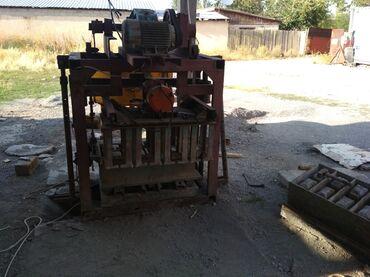 рваный пескоблок бишкек цена в Кыргызстан: Станок аппарат для производство пескоблок узкий стандарт бетономешалка