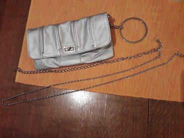 Srebrna pismo torbica sa dva lanca kraći i duži. - Lazarevac