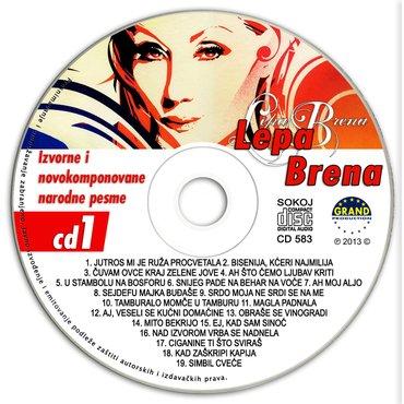 Cd lepa brena izvorne narodne pesme - Beograd - slika 2