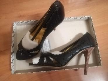 Crne cipkane sandale Jednom nosene Velicina 36 - Kraljevo