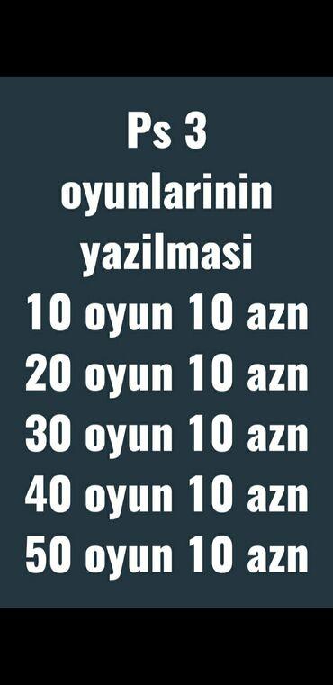 h2h az elanlar - Azərbaycan: Playstation 3 oyunlarinin yazilmasiminimum ve maksimum 10 azn odeniwle