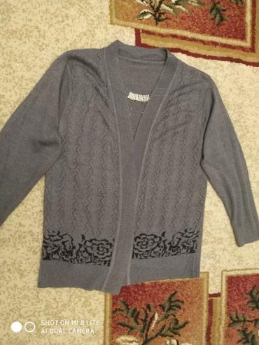 трикотажная рубашка в Кыргызстан: Продаю кофту трикотажное, размер 48, состояние хорошее, цена 200