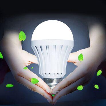 Lunar led - Beograd: Nova LED lampa 12 W radi kao LED sijalica u grlu E27 i kao prenosiva l
