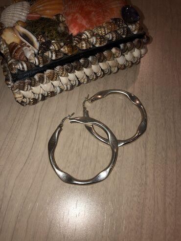 Серебро! Серьги кольца из качественного серебра  Серьги гвоздики Soko