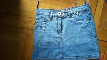 Teksas suknjica - Srbija: Mini teksas suknjica,velicina S,potpuno nova. lepaaa