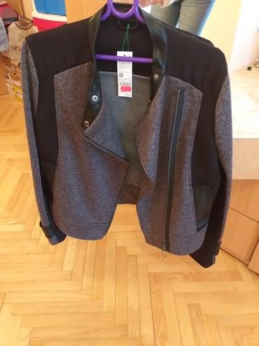 Prelepa jaknica za proleće- jesen, crno sive varijante, veličina 42, - Belgrade