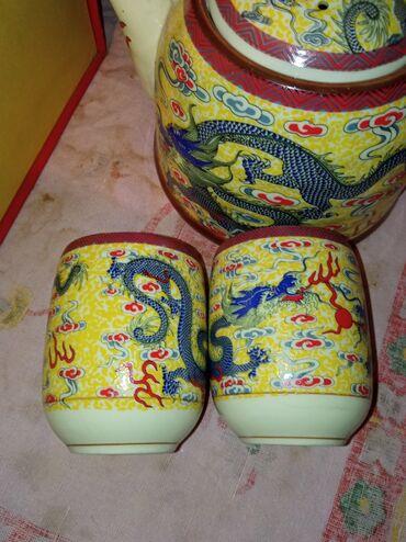 Расписные фужеры - Кыргызстан: Чайный набор в китайском стиле. Смотрится очень круто! Красивые