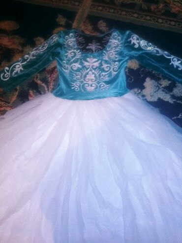 Кыргызское платье можно и ниже . Для 6-8 лет