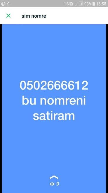 Bakı şəhərində Sim nomre