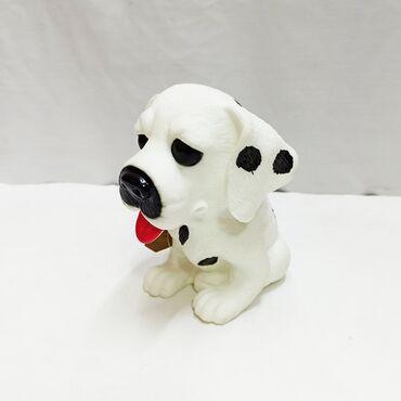 Мягкая резиновая собачка далматинец с лёгким посвистыванием при