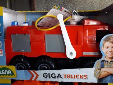 Kamion - Srbija: Vartogasni kamion od kvalitetne plastike. Dete može da sedne na njega