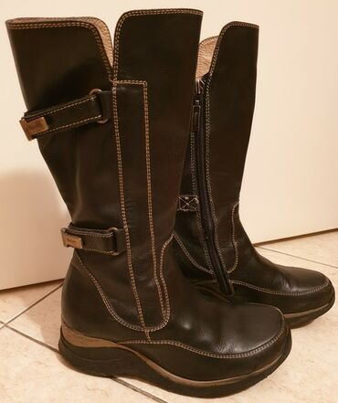 Crna haljinica vise - Srbija: Cesare PACIOTTI 4US original decije kozne cizme, visoke, duboke, crne