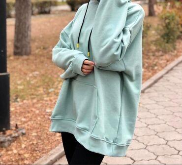 платье бархатное в пол в Кыргызстан: ХИТ ПОСЛЕДНИХ ДВУХ ЛЕТ-это Оверсайз.Эта толстовка подойдёт всем