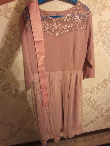 цвет нежный платье цвет в Кыргызстан: Платье нежно розового цвета. Размер 50!Длина ниже