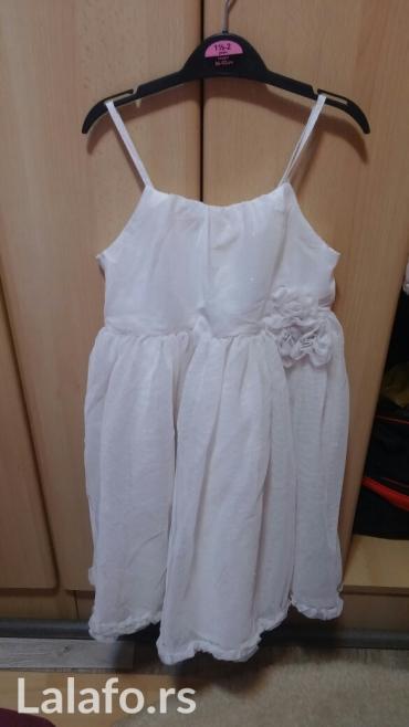 Nova bela elegantna haljinica 128 broj. prelepa za krštenje ili neku - Krusevac