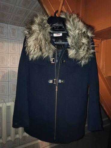 Пальто зимнее темно синее 11-12 лет Цена 700 сом В идеальном