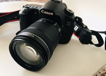 фотоаппарат canon eos 1100 d в Кыргызстан: Продаю фотоаппарат б/у Canon EOS 60D KIT 18-135. Состояние отличное. П