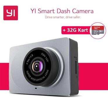 xiaomi yi крепление в Азербайджан: Xiaomi Yi smart dash camera + 32GB kart