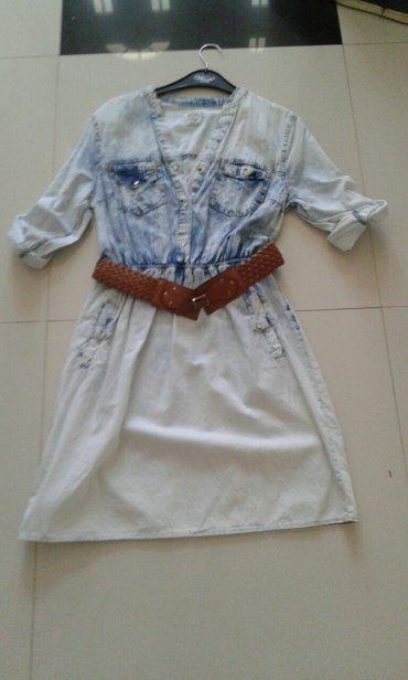 Teksas haljina novo sa koznim kaisem jako lepo stoji velicine s m i l - Backa Palanka