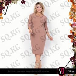 вязаное платье с воротником хомут в Кыргызстан: Платье с небольшой драпировкой, имитирующей воротник хомут  Материал