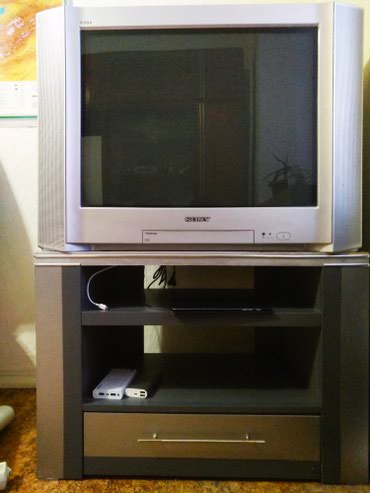 Телевизор б/у. SONY Trinitron Tv + SONY DVD +тумба под Tv в Бишкек