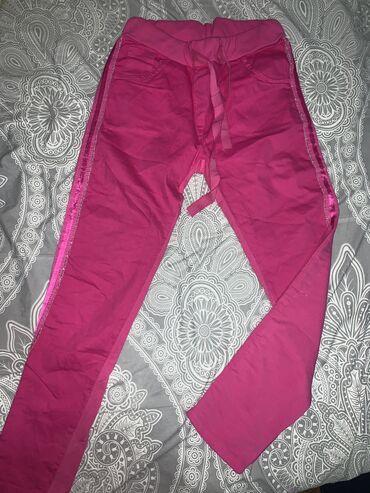 Pink pantalone - Srbija: Pink pantalone-trenerke, jednom nosene-kao nove
