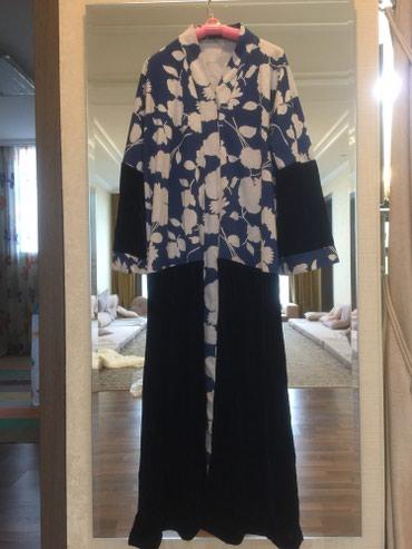 платья из велюра в Кыргызстан: Продам платье абаю. Производство ОАЭ. Комбинированный велюр отличного