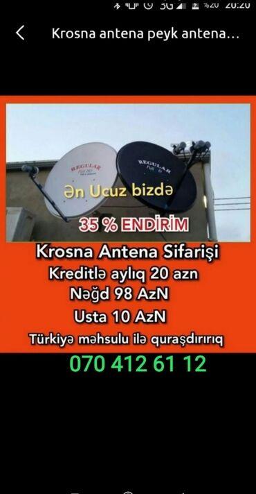 Digər aksesuarlar - Azərbaycan: Krosna krosnu kros peyk antenaların kreditlə və nəğd quraşdırılması