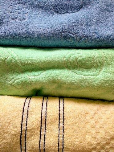 смена-постельного-белья в Кыргызстан: Банные полотенца 135 *70 см махровыеразных расцветок,голубые