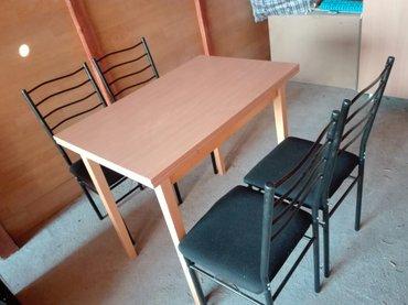 Kuća i bašta   Rumenka: Sto i stolice