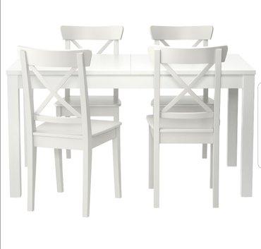 produkcii ikea в Кыргызстан: Ikea. стулья ингольф белые есть 4 шт. цена указана за 1ед
