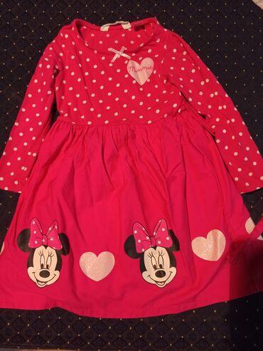 Decije haljine - Krusevac: Preslatka pamučna haljina za devojčice sa motivom Minnie. Veličina je