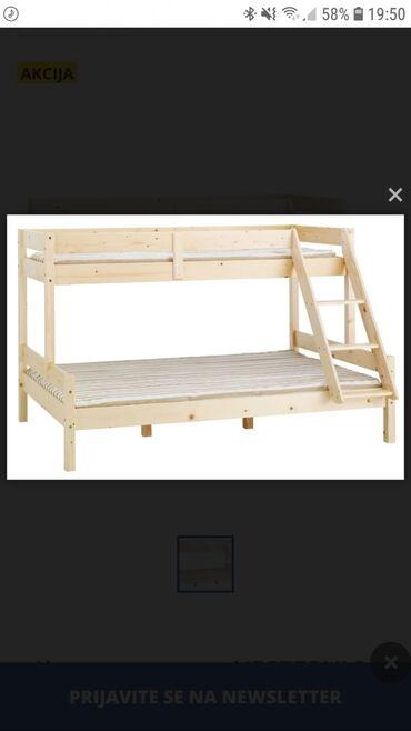 Kreveti - Srbija: Prodajem krevet na sprat u odličnom stanju. Krevet je od punog drveta