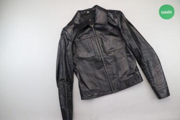 Жіноча шкіряна однотонна куртка Polo, p. S   Довжина: 50 см Ширина пле
