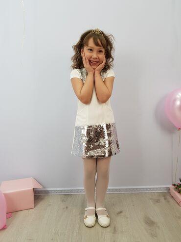 черно белая платья в Кыргызстан: Нарядное платье для девочки артикул: златаразмеры: 116, 122, 128