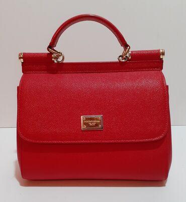 Nova haljina - Srbija: Dolce&Gabbana original  Prelepa crvena torba dolce gabbana kratko