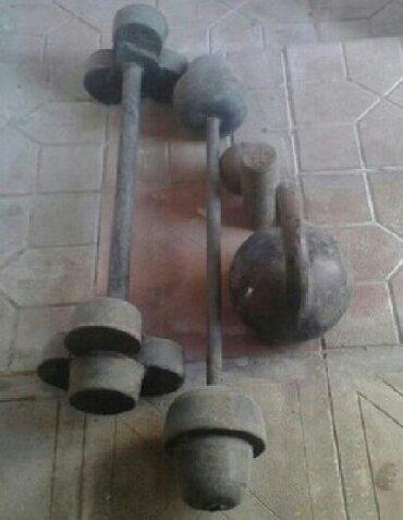biqser idman - Ceyranbatan: 50 kq-lıq, 32 kq lıq ştanqlar və 24 kq-lıq gir satılır,hamısı bir