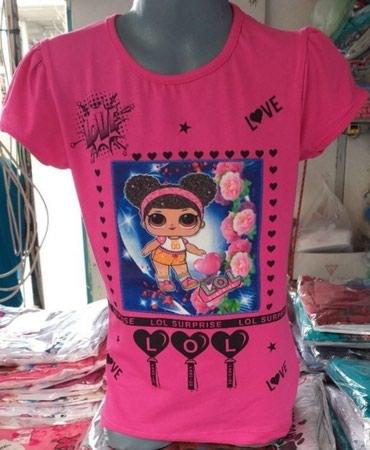 Dečija odeća i obuća | Novi Sad: Pamučne LOL majice za devojčice, veličine 3-4, 4-5, 5-6, 6-7 i 7-8