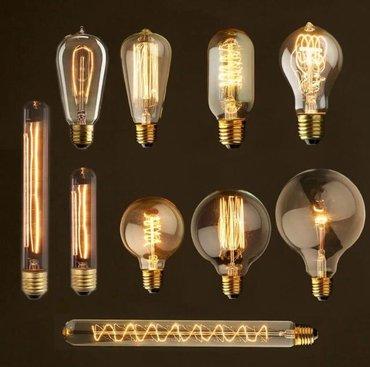 Bakı şəhərində Edison lampalar e27 40w 220v tezediller. Dekor ucun lampalar , her