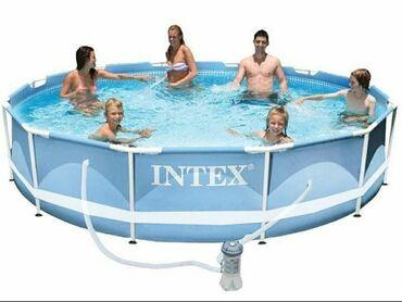 Модель:28712Каркасный бассейн Intex Prism Frame Размеры: 3,66 х