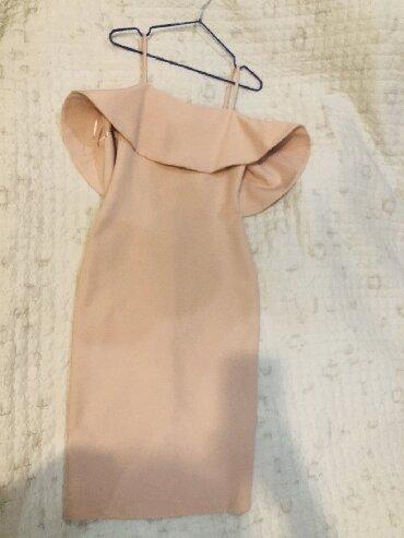 вечернее платье ниже колен в Кыргызстан: Платье цвет пудры, ниже колен очень красиво сидит по фигуре размер