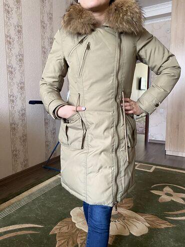 пуховики на зиму в Кыргызстан: Пуховик, фирменный покупали в Турции, состояние новой вещи, размер 40-